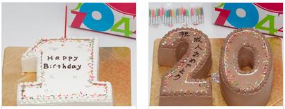 数字ケーキ