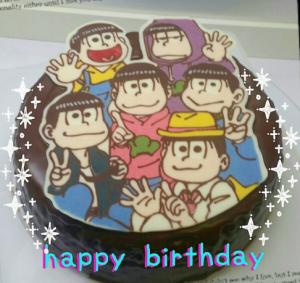 おそ松さんのキャラクターケーキ
