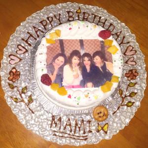 女友達に写真ケーキ