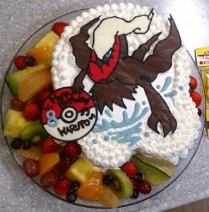 ポケモンのキャラクターケーキ