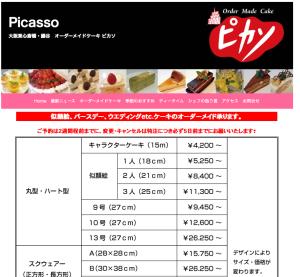 大阪ケーキ、ピカソ