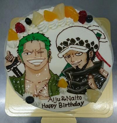 ゾロ ロー キャラクターケーキ