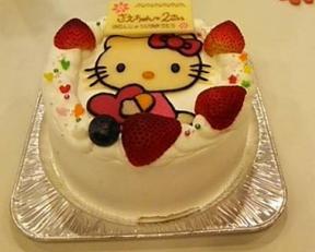 キティーちゃんのキャラクターケーキ