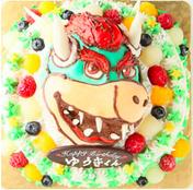 クッパのキャラクターケーキ
