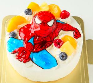 スパイダーマンのキャラクターケーキ